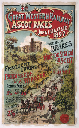 Ascot Races', GWR poster, 1897.