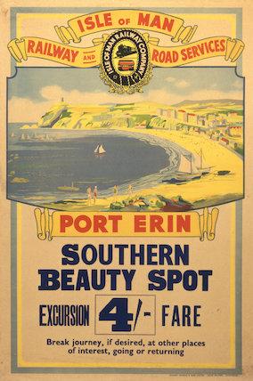 Port Erin, Southern Beauty Spot', poster, c.1930s.