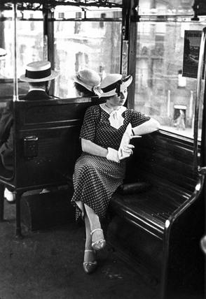 Woman wearing the latest fashions
