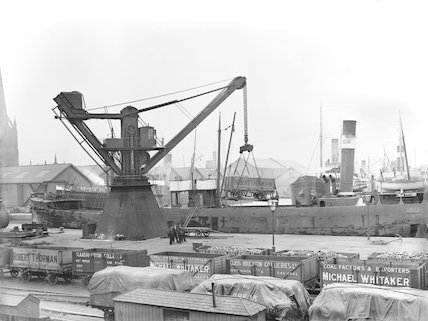Coal wagons at Goole docks, 1911