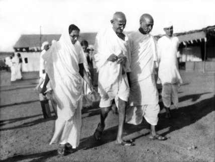 Mahatma Gandhi at Congress Subjests committee meeting