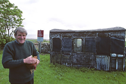 Reused - former railway carriages - 2001
