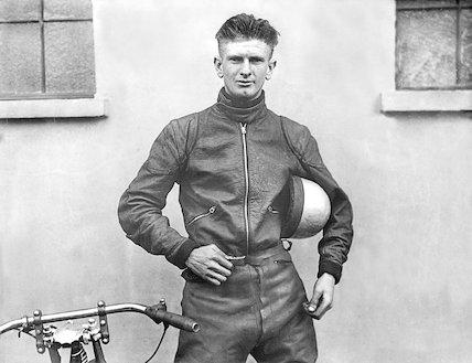 Speedway rider Jack Bibby. May 1935