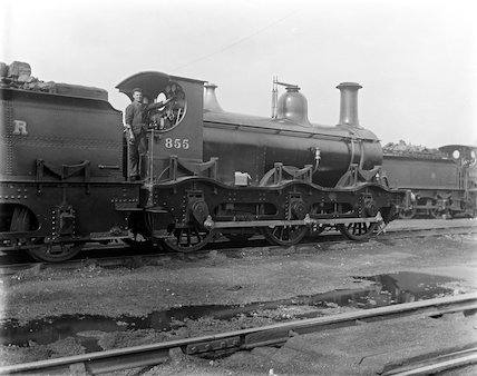 Midland Railway 0-6-0 locomotive number 855