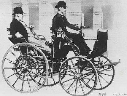 Gottlieb Wilhelm Daimler (1834-1900), German engineer and inventor, c 1885.