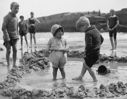 Children in a bathing pool, Hastings, East Sussex, 26 May 1931.