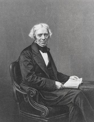 Michael Faraday (1791-1867), English physicist.