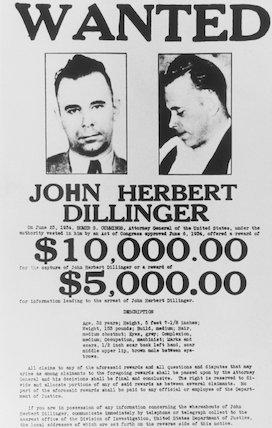 John Dillinger, American bank robber and murderer, March 1934.