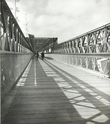 Bailey Bridge entrance, South Bank exhibition, Festival of Britain, Sept 1951
