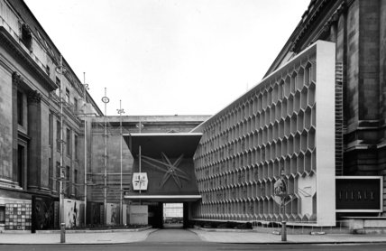 Festival of Britain, Entrance to Science Exhibition, South Kensington, August 1951