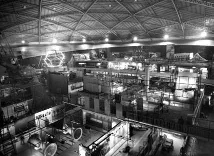 Festival of Britain, interior view of the Dome Of Discovery, 1951