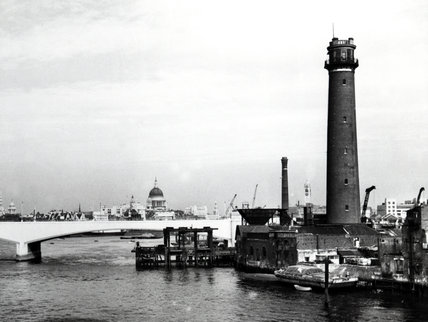 Waterloo Bridge,Shot Tower, & St Pauls, 1948