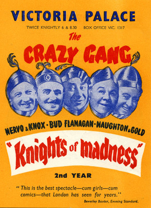 Bill poster for The Crazy Gang in 'Knights Of Madness', 1951