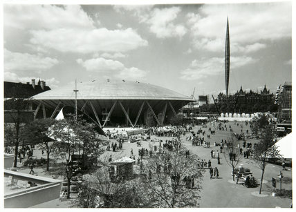 Dome of discovery and Skylon -South Bank Exhibition, June 1951