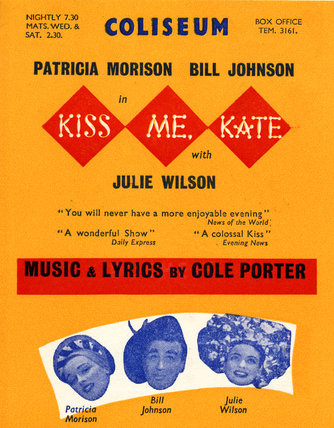 Bill poster for 'Kiss Me Kate', 1951