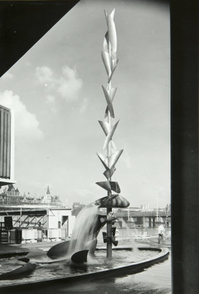 Richard Huws 'Water Mobile' Sculpture, South Bank exhibition, Festival of Britain, Sept 1951