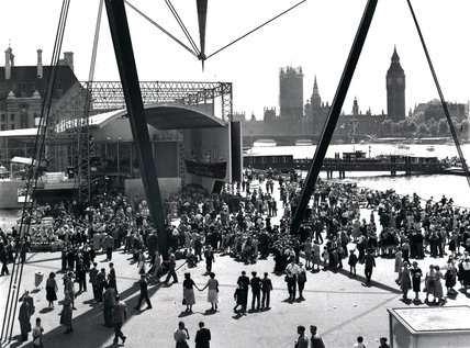 Festival of Britian piazza on the Southbank, 1951