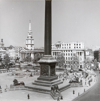 Trafalgar Square from Canadian pacific building, May 13, 1949