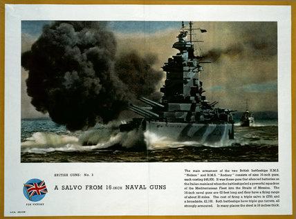 A Salvo From 16-Inch Naval Guns