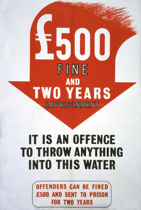 It is An Offence to Throw Anything Into This Water