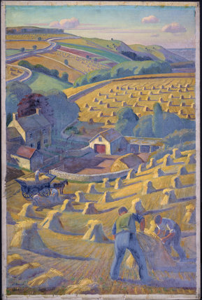 Harvesting Scene WW II Poster