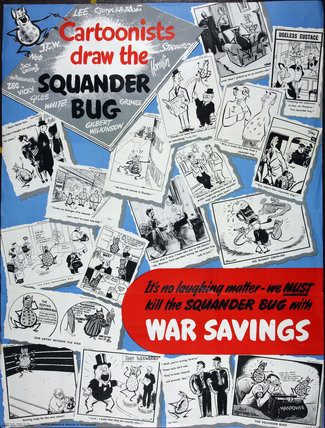 Cartoonists Draw the Squander Bug