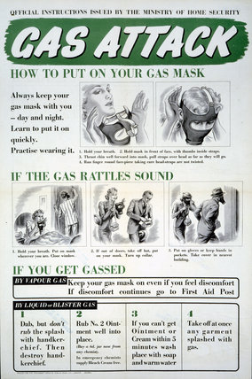 Instructions Issued by the Ministry of Home Security in the Event of a Gas Attack