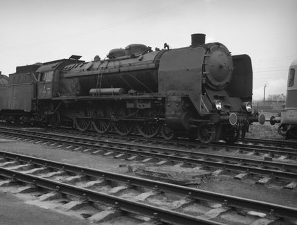 Polish State Railways Pu 29 class 4-8-2 locomotive, number 1, built in 1930.