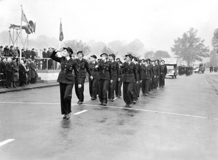 Women ambulance workers marching - 1943