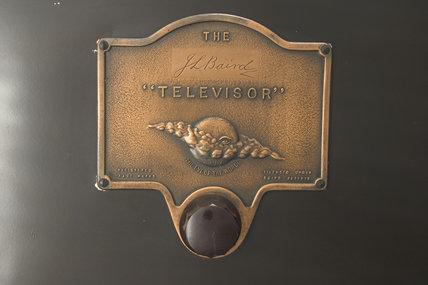 Detail of a 'tin box' televisor, c 1930.