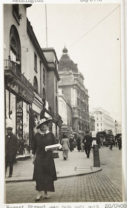 A woman shopping in Regents Street, London.