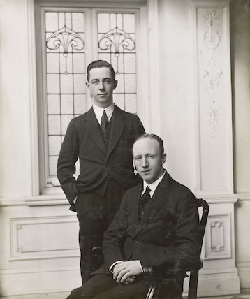 Portrait of two men.