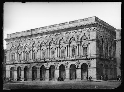 Manchester Free Trade Hall, c.1855.