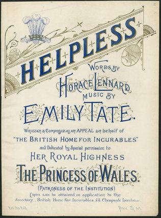 Helpless', music cover, United Kingdom, 19th-20th century.