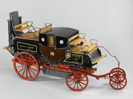 Goldsworthy Gurney steam coach, 1827, scale model.