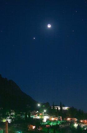 Moon and Venus, by Jamie Cooper.