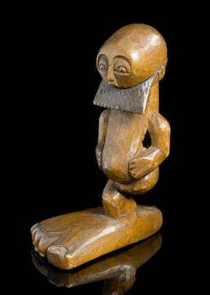 Carved wooden statue, Democratic Republic of Congo, late 19th-early 20th century.