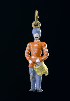 Metal amulet in the shape of a soldier, United Kingdom, c.1918.