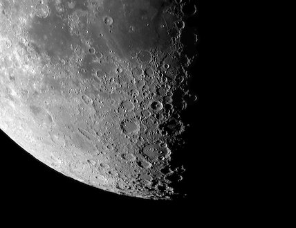 The lunar South Pole region, by Jamie Cooper.