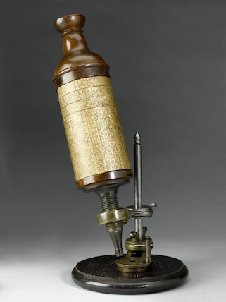 Hooke's compound microscope, copy, c.1675.