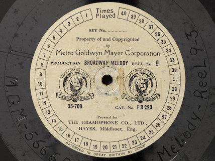 Gramophone record, 1929.