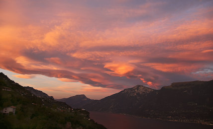 Clouds over Lake Garda, Italy