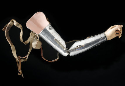 Artificial left arm, England, mid 19th-20th century.