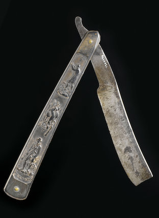 Cut-throat steel razor, owned by Lord Nelson, England, 1780-1805.