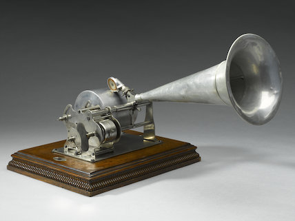 Disc recording machine, 1892.