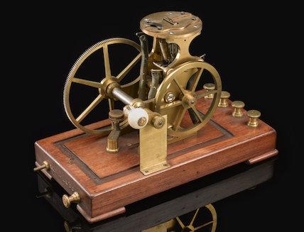 Wheatstone's automatic telegraph transmitter, 1858.