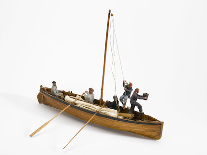 Model of a Deal Galley. Special Exhibition of Fishing Boats July 22 - August 31, 1936.