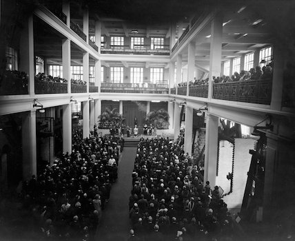 King George V, opening the Science Museum 1928. (East Hall)