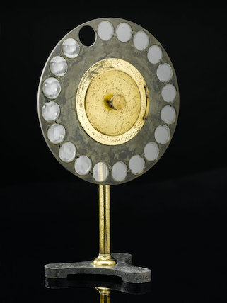 Optometer with 38 lenses, Europe, early 20th century.