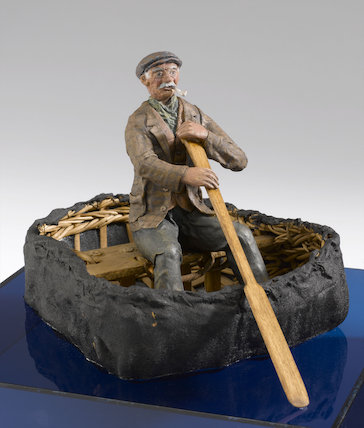 Model of a Welsh Coracle from the River Teify.